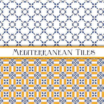 Beautiful painted mediterranean traditional tiles