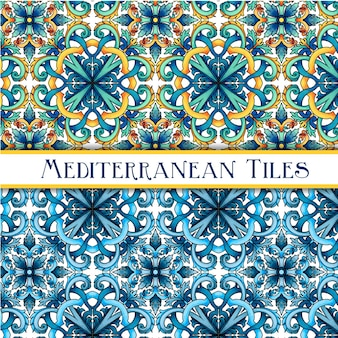 美しい塗装地中海の伝統的なタイル