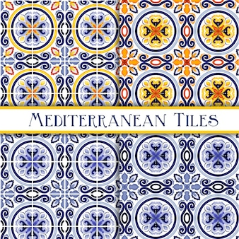 Beautiful painted sicilian traditional tiles