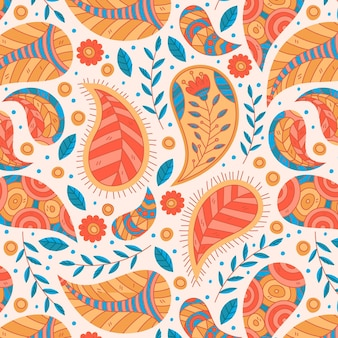 Beautiful paisley traditional seamless pattern