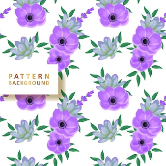 Beautiful pattern background with succulents