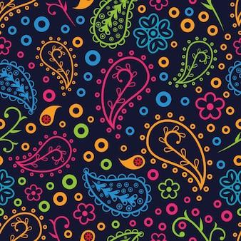 ペイズリーデザインによる美しいパターン