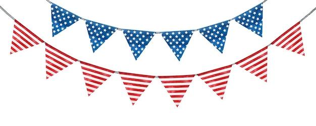 アメリカの国旗の色の美しい模様。