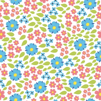 Beautiful pattern with wildflowers