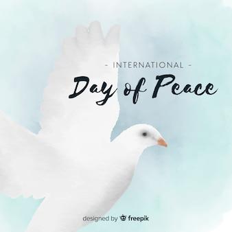 鳩と美しい平和の日の背景