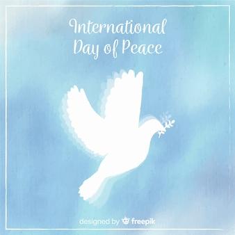 아름 다운 평화의 날 배경