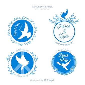 Beautiful peace day labels