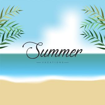 Beautiful peaceful summer vacation card, beautiful, amazing, seaside, beach, card
