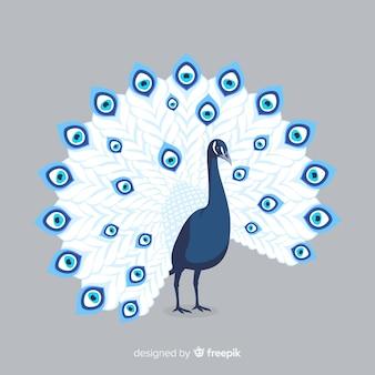 Beautiful peacock background Premium Vector