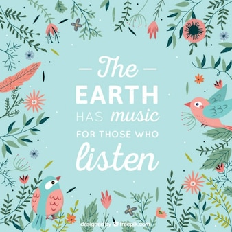 Beautiful phrase about Earth