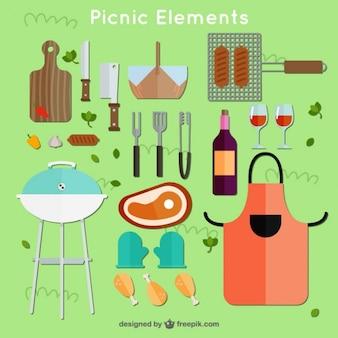 Beautiful picnic elements
