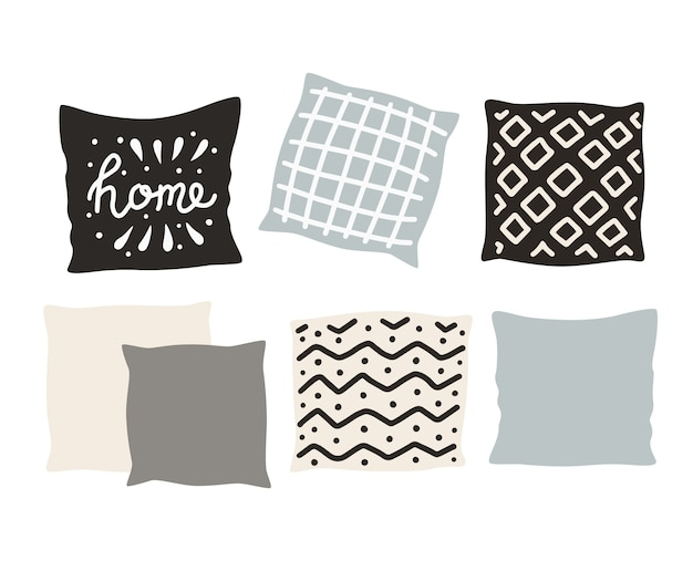Beautiful pillows isolated