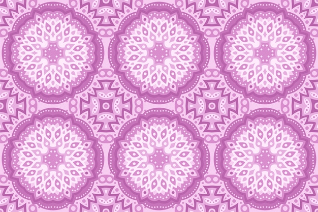 Beautiful pink abstract eastern seamless pattern