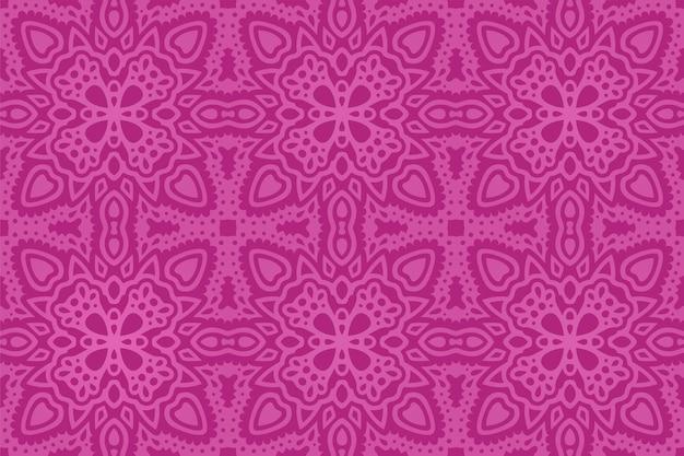 美しいピンクの東のタイルのシームレスなパターン