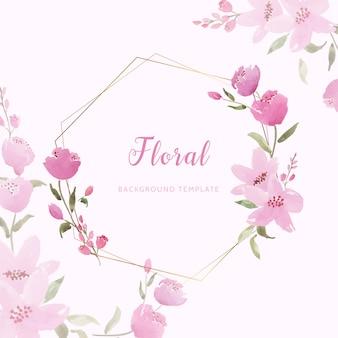 아름다운 분홍색 꽃이 배경 템플릿