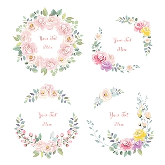 Beautiful pink flower wreaths collection for celebration