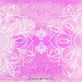 美しいピンクのマンダラの背景