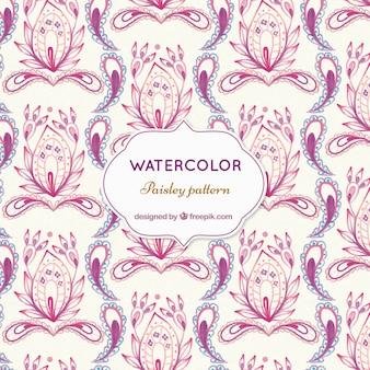美しいピンクのペイズリーパターン
