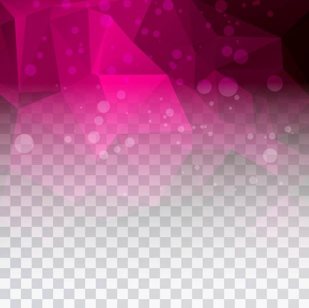 美しいピンクのポリゴン透明な背景のイラスト