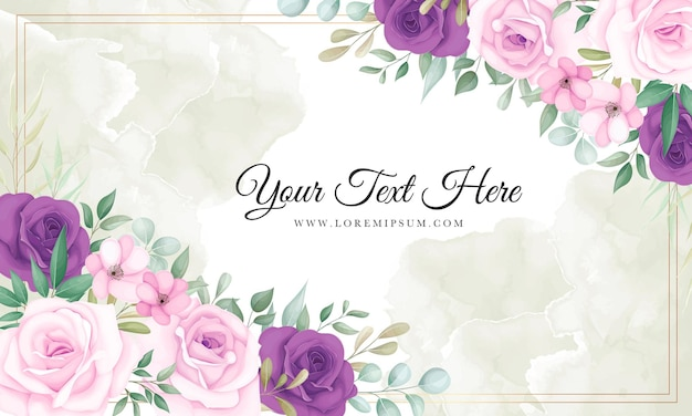 Beautiful pink and purple floral background