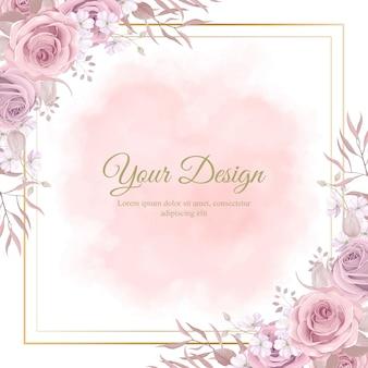Красивые розовые розы для украшения свадебных открыток