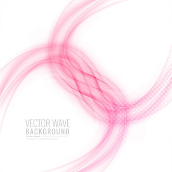 Beautiful pink stylish wave background