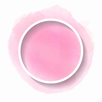 Beautiful pink watercolor with a round frame for text