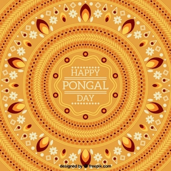 Beautiful pongal background with geometric decoration