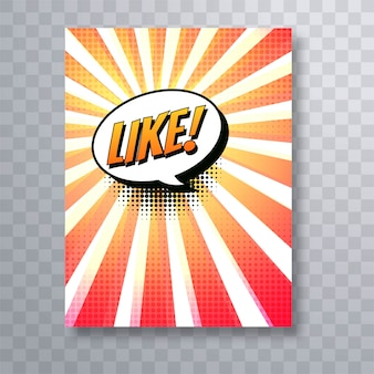 Beautiful pop art colorful comic book brochure template