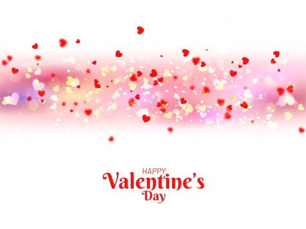 Beautiful poster or banner design decorated with tiny heart shap