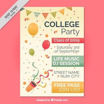 Beautiful poster for college party