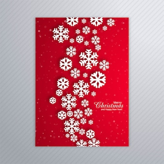 Beautiful poster of snowflakes