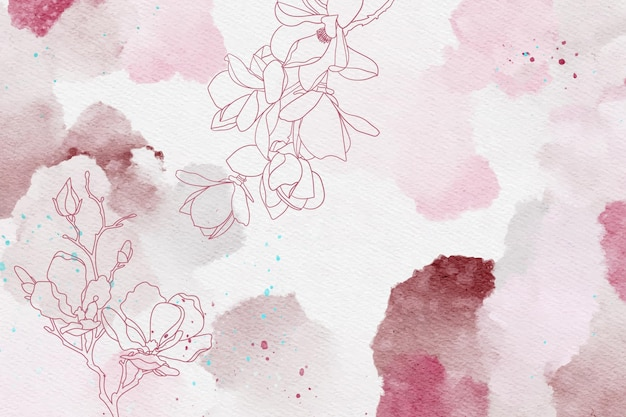 Beautiful powder pastel with hand drawn elements background