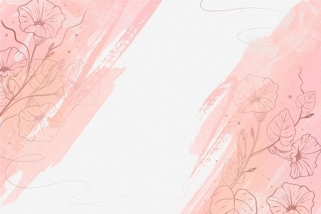 手描きの要素の壁紙と美しいパウダーパステル