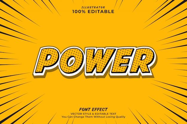 Beautiful power editable text effect