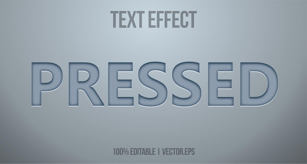 Beautiful pressed text effect