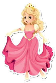 Наклейка с изображением красивой принцессы из мультфильма