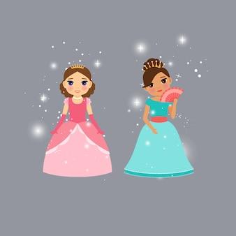 Beautiful princess characters