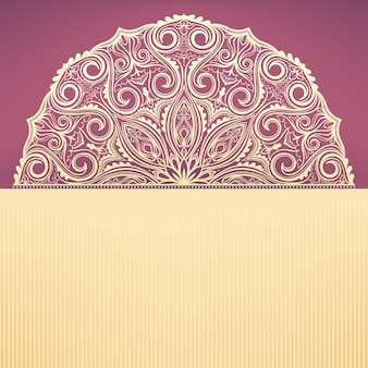 Beautiful purple background with a round yellow