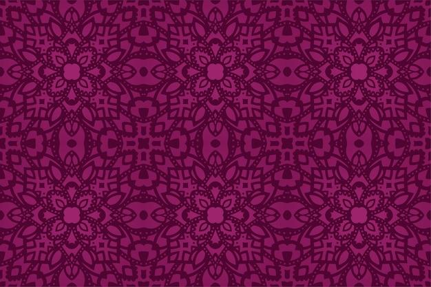 美しい紫色の東部のシームレスなパターン