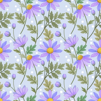 Beautiful purple flowers seamless pattern.  this pattern can be use for fabric textile wallpaper.