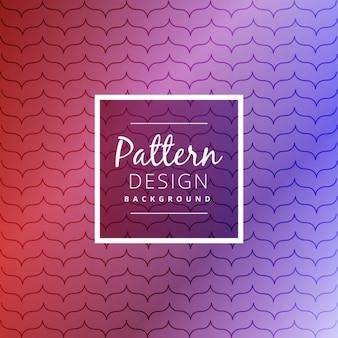 세련된 라인과 아름다운 보라색 패턴