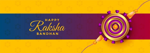 Beautiful rakhi  banner for raksha bandhan