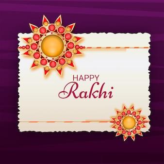 Beautiful rakhi made by stones.