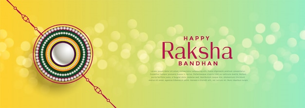 Beautiful raksha bandhan bokeh festival background
