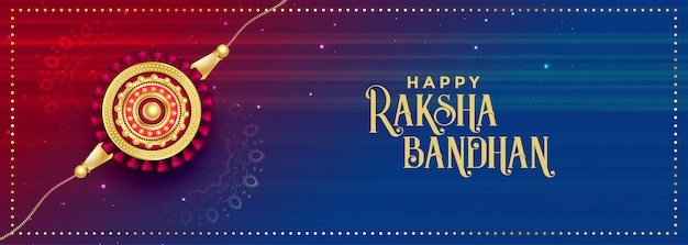Beautiful raksha bandhan festival banner