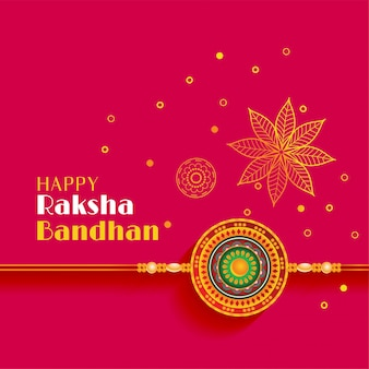 Beautiful raksha bandhan greeting with decorative design