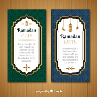 Beautiful ramadan banners