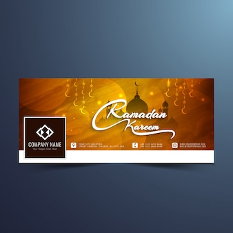 Beautiful ramadan kareem facebook cover