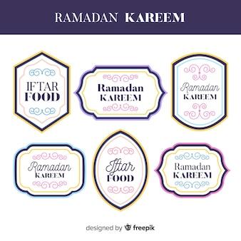 Beautiful ramadan label collection